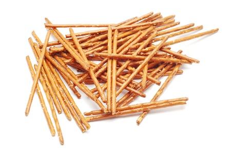 pretzel stick: salted sticks  Stock Photo