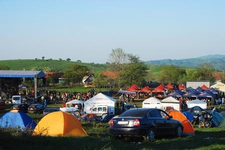 GARNIC, ROMANIA, APRIL, 28th - Rocker's Festival at Garnic, Romania, 27-29 of April, 2012 Stock Photo - 13455846