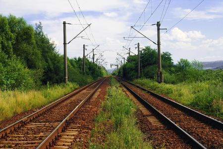 railway track: train tracks