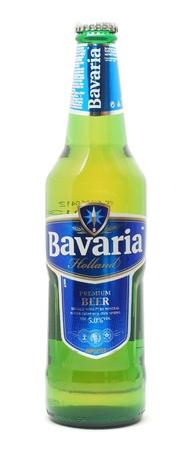 alcoholic beverage: CARANSEBES, ROMANIA - OCTOBER 30, 2012: Bottle of Bavaria dutch beer isolated on white background