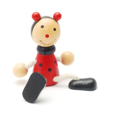 marioneta de madera: títere juguete de la vendimia Foto de archivo
