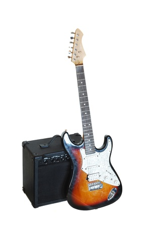 electric guitar and amplifier Stock Photo - 18319004