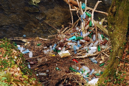 water contamination:   pollution  Stock Photo
