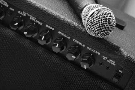 amps: guitar amplifier and microphone
