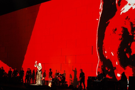 pink floyd: Roger Waters on stage in Belgrade, Serbia, live on one the most ambitious rock shows ever staged, Pink Floyd s The Wall