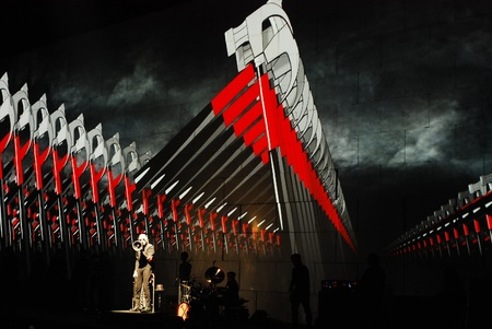 water's: Roger Waters on stage in Belgrade, Serbia, live on one the most ambitious rock shows ever staged, Pink Floyd s The Wall