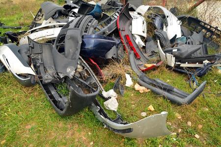 junk car: car trash