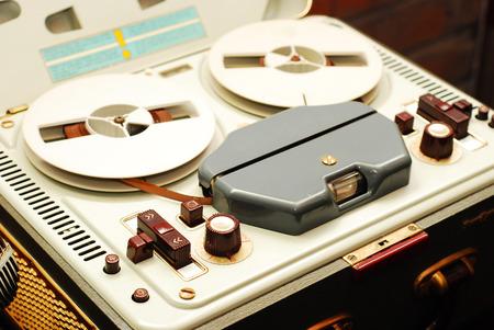 magnetic:   reel to reel tape recorder