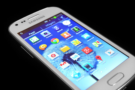 samsung galaxy: samsung galaxy smartphone  Editorial