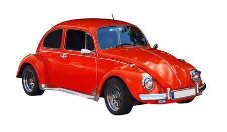 escarabajo: coche escarabajo rojo
