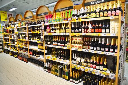 store shelf:   liquor store