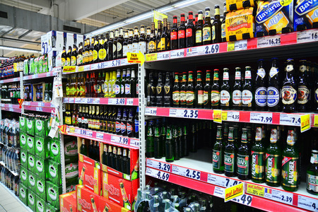 alcoholic drink:   liquor store