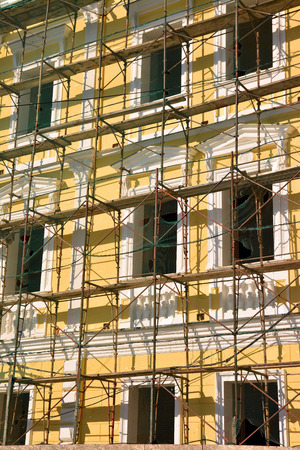 staging: scaffolding on the facade