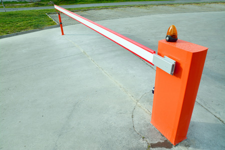 barrier gate:  barrier  Stock Photo