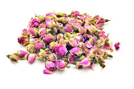 flores secas: brotes color de rosa Foto de archivo