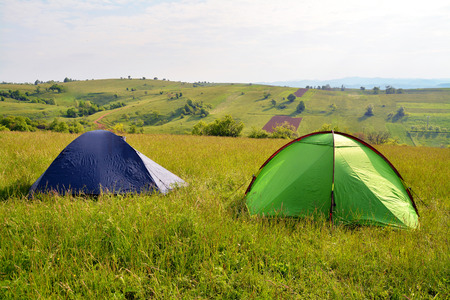 camping tent:   tents  Stock Photo