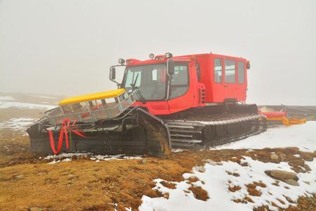 piste:   snowplow  Stock Photo