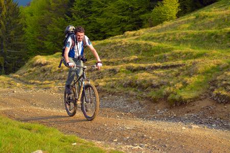 mountain biker:   mountain biker  Stock Photo