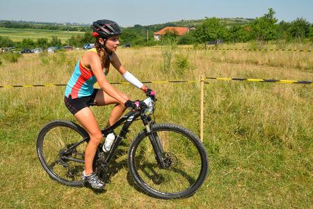concordia: TAPIA ROMANIA  JUNE 14: mountain bike rider in action during the Concordia Cup June 14 2015 in Tapia Romania Editorial