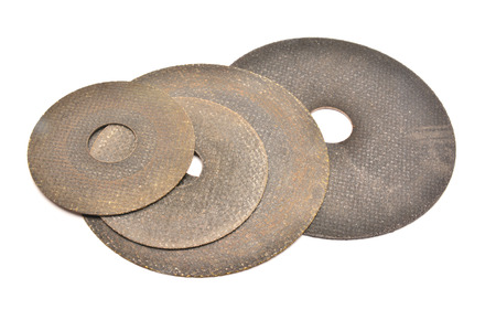 abrasive: cutting abrasive discs Stock Photo
