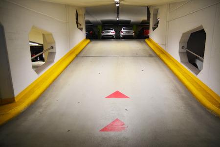 garage: underground parking garage with cars
