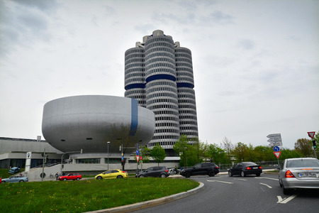 famous industries: the bmw headquarters in munich, germany.