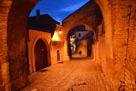 passage: medieval passage Stock Photo