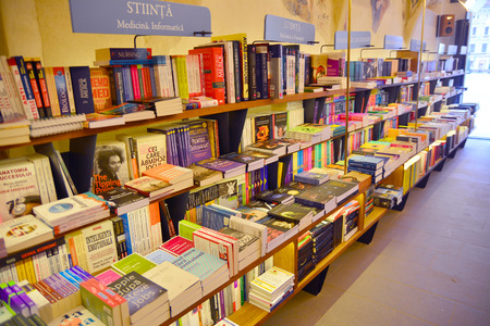 inside a book store Editorial