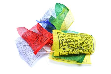 prayer rug: nepalese prayer flags Stock Photo