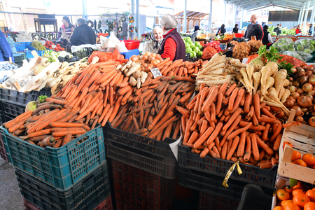 traditional romanian vegetable market Editorial