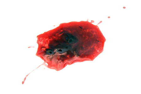 bloodstains: blood stain Stock Photo