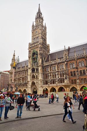 cityhall: the city hall of munich germany