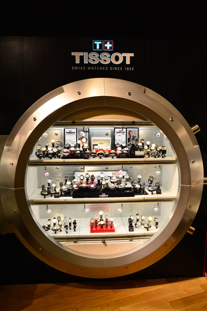 store shelf: Tissot watches shop