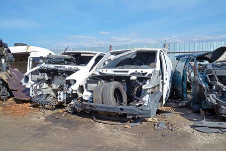 junk: car scrap yard