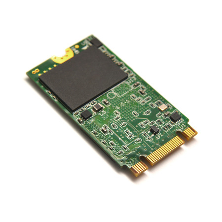 SSD M2 drive on white background