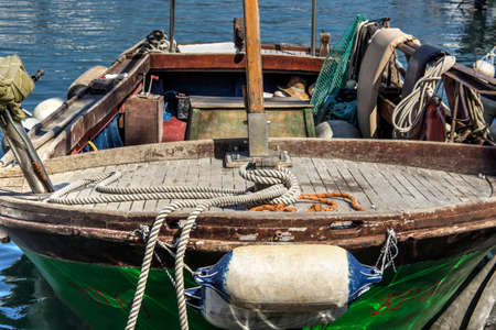 Traditional wooden fishing boat of the Adriatic Sea
