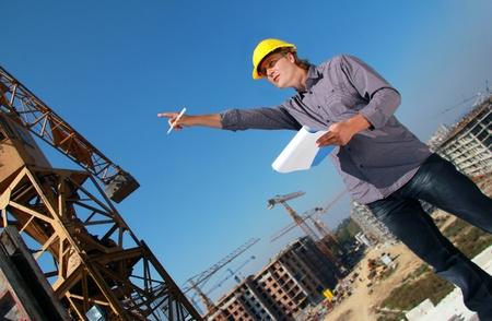 baustellen: Construction Manager auf der Baustelle