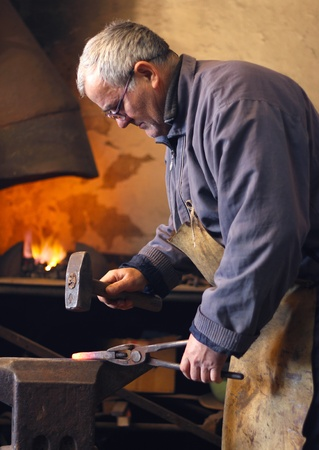 Blacksmith at work Stock Photo - 15574959