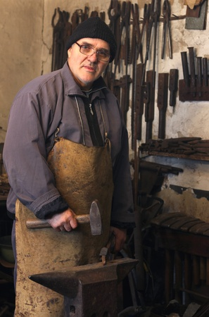 Blacksmith at work Stock Photo - 15574961