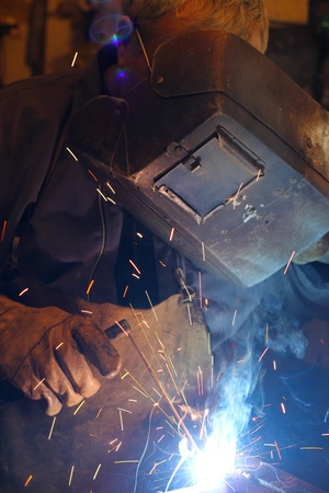 Welder at work Stock Photo - 15574957
