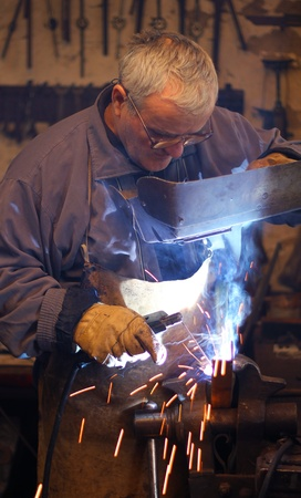 Welder at work Stock Photo - 15574958