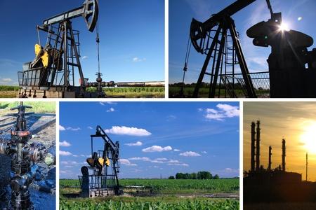 yacimiento petrolero: Bomba de aceite Jack y pantalla dividida refinería
