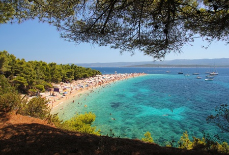 brac: Famous beach in Bol on Island Brac in Croatia