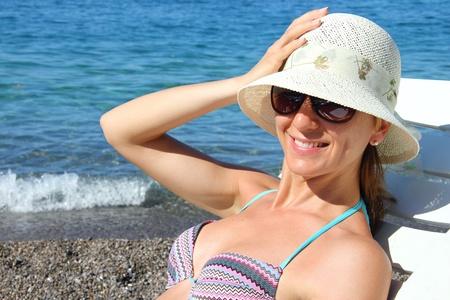 Girl enjoying on the sea Stock Photo - 16311425