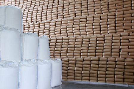 Sweet Wall - Sugar in a Warehouse Stock Photo - 16156135