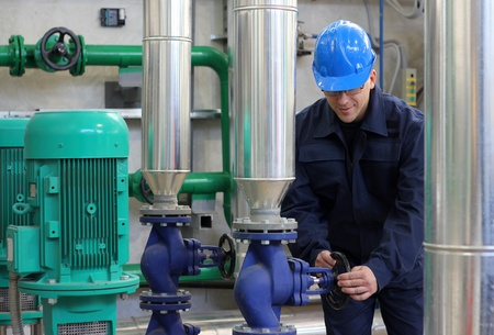 Worker control devices in Heating and Power Plant Standard-Bild