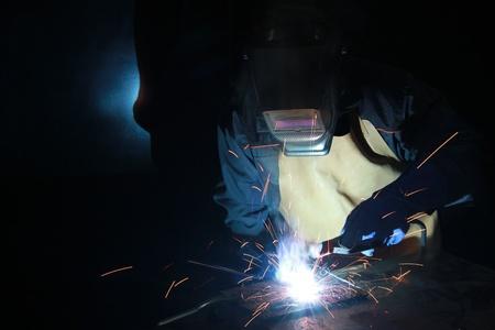 Welder at work in metal industry Stock Photo - 16156098
