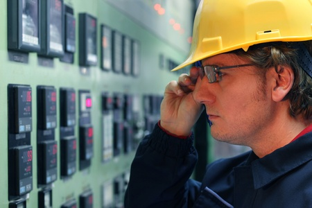 measuring instruments: Engineer in control room