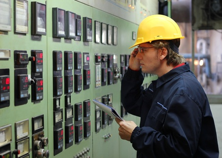 production engineer: Engineer in control room