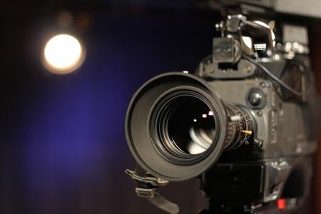 tiro al blanco: C�mara en el estudio de televisi�n